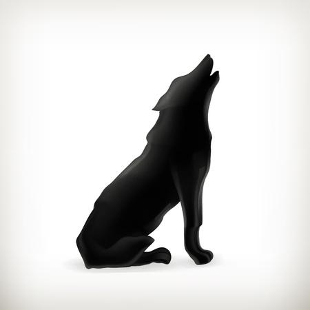 lobo feroz: Lobo silueta