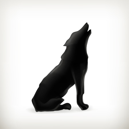 dog silhouette: Wolf silhouette
