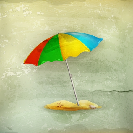 Beach parasol, old-style Vector