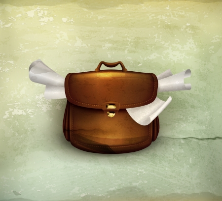 Briefcase, old-style Stock Vector - 15808500