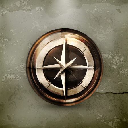 Compass, old-style Stock Vector - 15808488