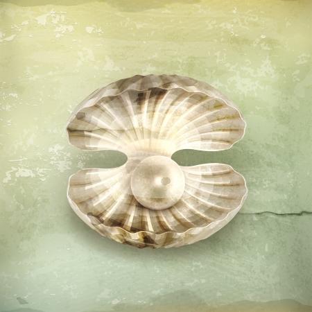 perlas: Pearl, de estilo antiguo Vectores