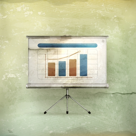 Projection screen, old-style Vector