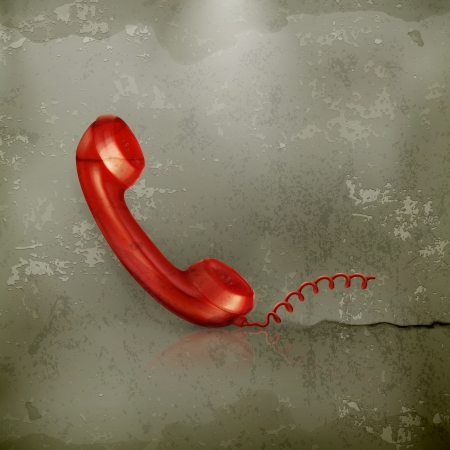 Red Handset, old-style Stock Vector - 15808469