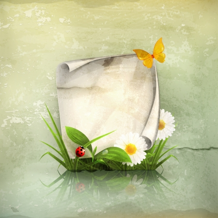 Spring frame, old-style Stock Vector - 15808491