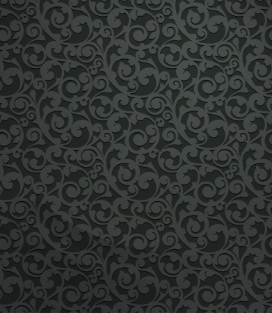 Black vintage seamless pattern Vector