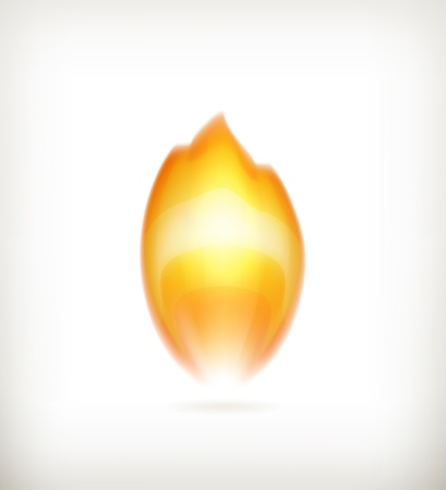 Flame icon Stock Vector - 16145533
