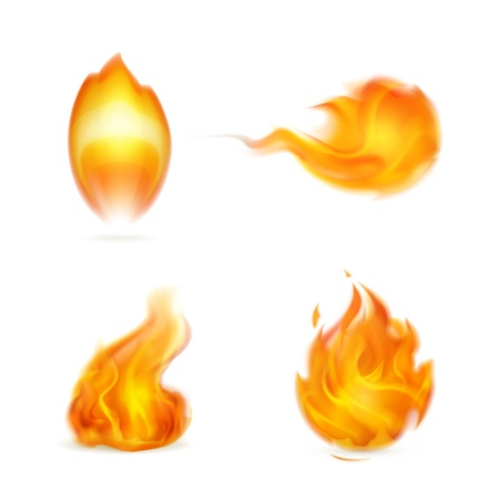 Flame, icon Vector