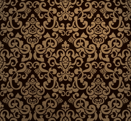 victorian wallpaper: Vintage seamless pattern