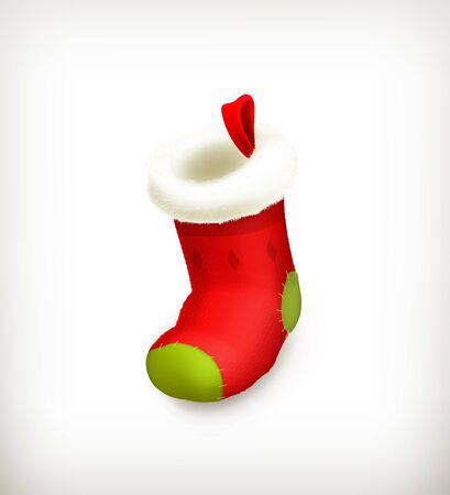 white socks: Christmas stocking