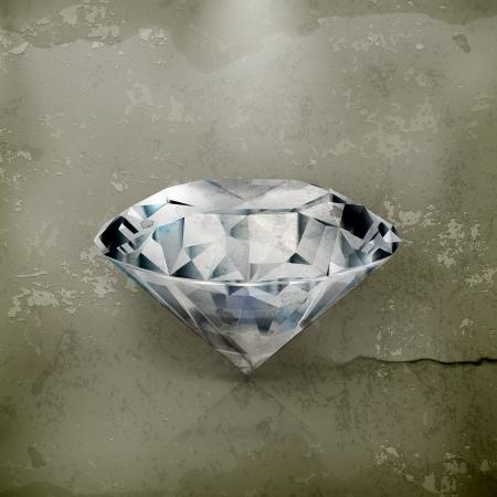 Diamond, old-style Stock Vector - 16295500