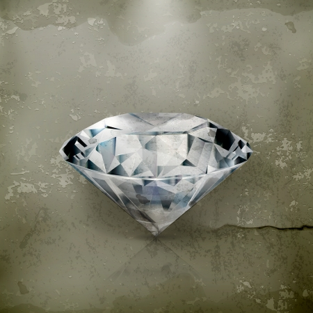 adamant: Diamond, old-style Illustration