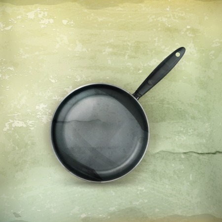 frying pan: Frying pan, old-style