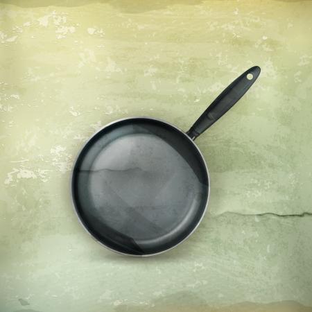 steel pan: Sartén y estilo antiguo,