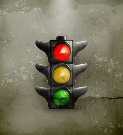 Traffic Lights, old-style Stock Vector - 16295461
