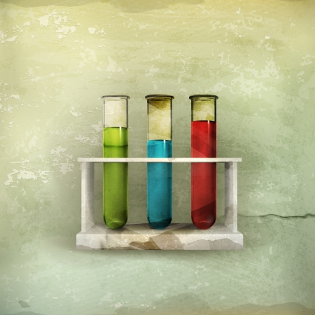 test glass: Tubes icon, old-style