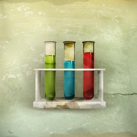 microbiologia: Tubos icono de estilo antiguo,