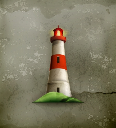 refuge: Lighthouse, old-style Illustration