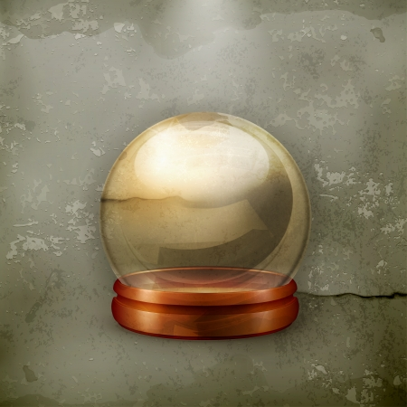 foretell: Magic ball, old-style Illustration