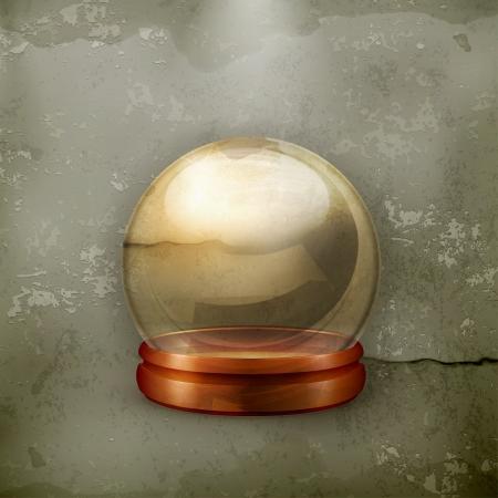 augur: Magic ball, old-style Illustration
