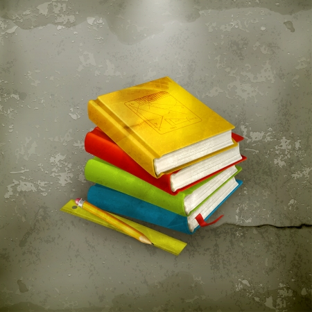 trigonometry: Stack of textbooks, old-style