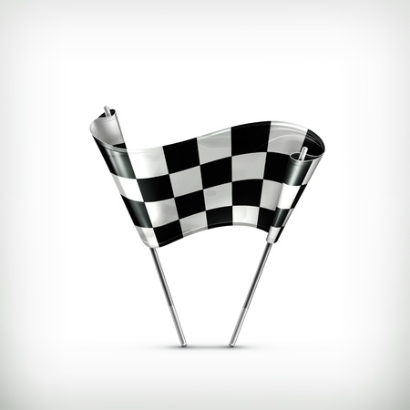 finishing checkered flag: Finish line