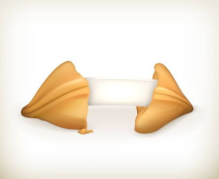 fortune cookie: Fortune cookie, banner Illustration