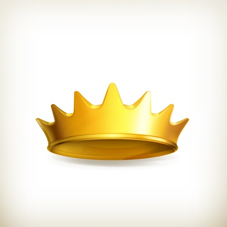 yellow crown: Golden crown Illustration