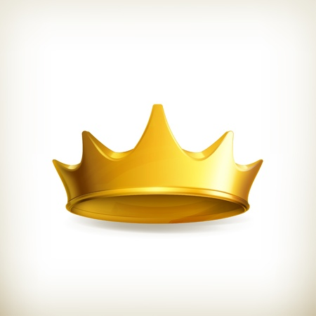 king crown: Golden crown Illustration