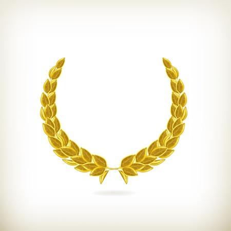 Corona de laurel, premio Ilustración de vector