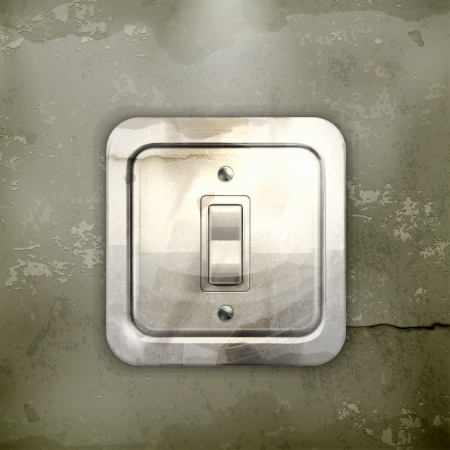 Light switch, old-style Stock Vector - 16728182