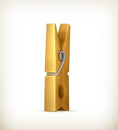 clothespin: Wooden clothespin Illustration