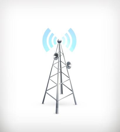 антенны: Беспроводная, значок Иллюстрация