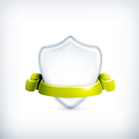 medal ribbon: White shield, award