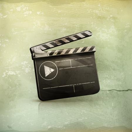 clap board: Film maker, old-style Illustration