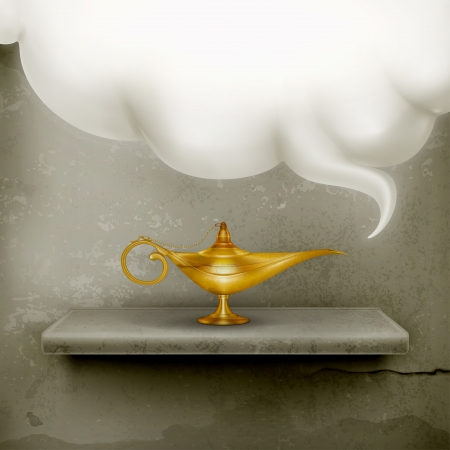 genie: Oil Lamp, old-style