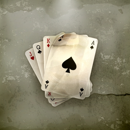 blackjack: Playing Cards, old-style