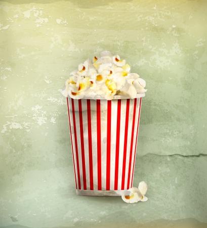 comfort food: Popcorn, old-style Illustration