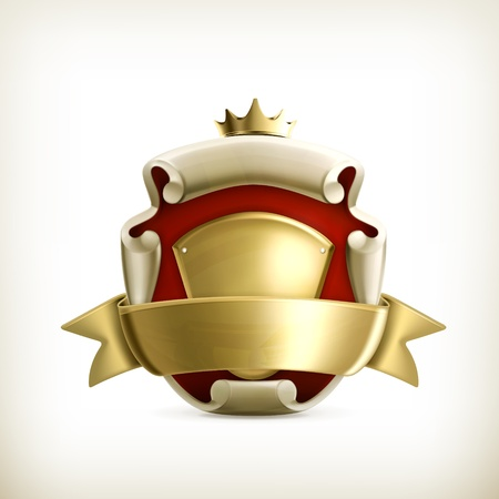 rank: Abstract ancient coat of arms
