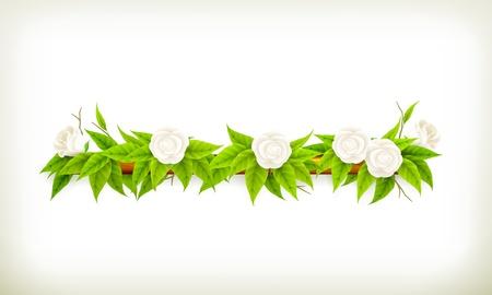 horizontal banner: Flowers banner