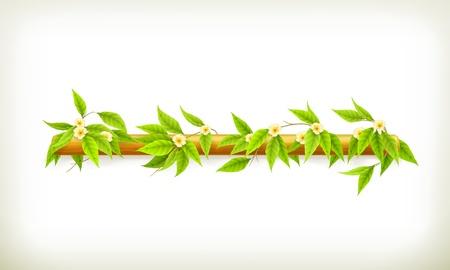 bush mesh: Flowers banner
