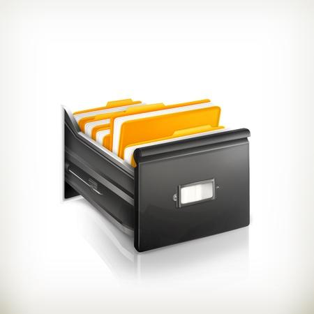 dossier: Open Card Catalog Illustration