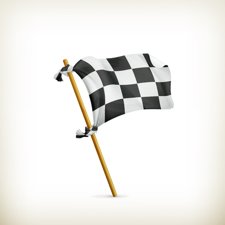 Checkered flag Stock Vector - 17885328