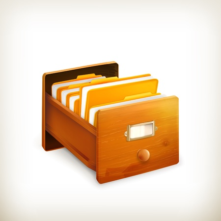 Open card catalog Vector