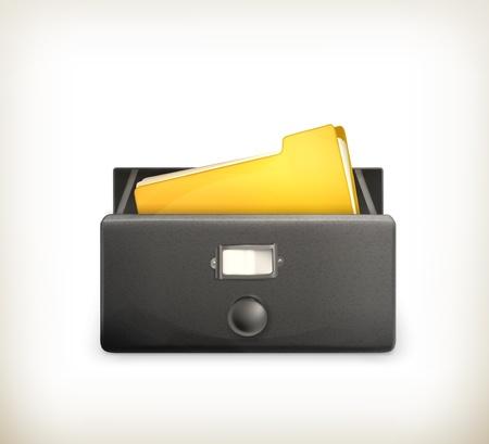 document management: Open card catalog black
