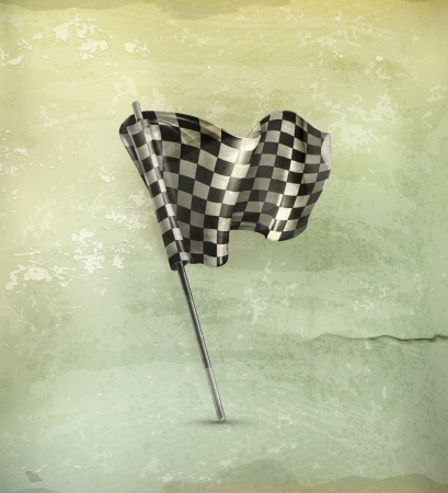 finish flag: Checkered flag old-style