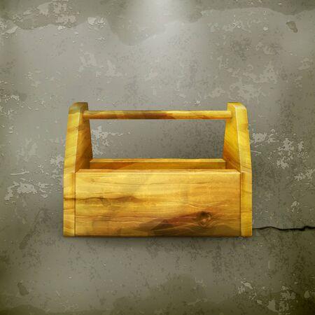 wooden work: Vuoto cassetta degli attrezzi in legno vecchio stile