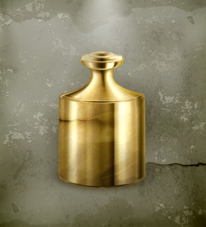 etalon: Gold weight, old-style Illustration