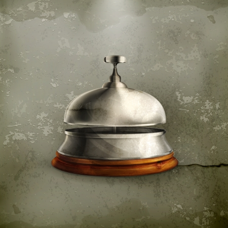 concierge: Reception Bell old-style Illustration