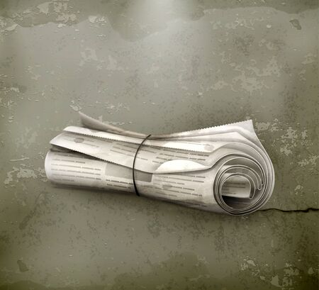 international news: Rolled Newspaper, old-style